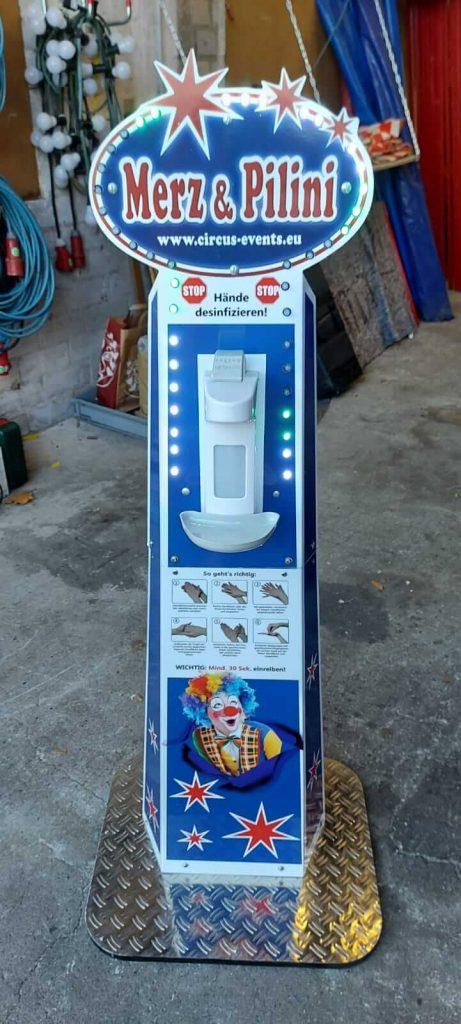 Corona-Hygieneständer Neu