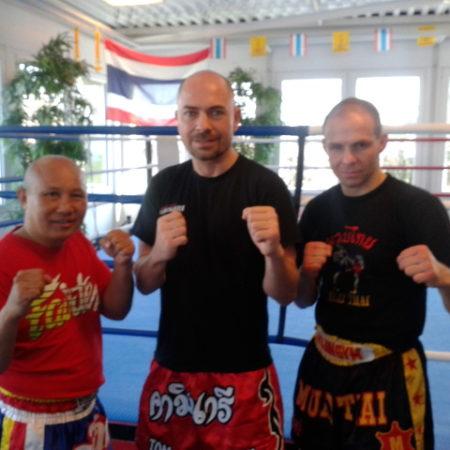 Bangkok-Champion Burklerk und Thai-Box-Meister René Müller